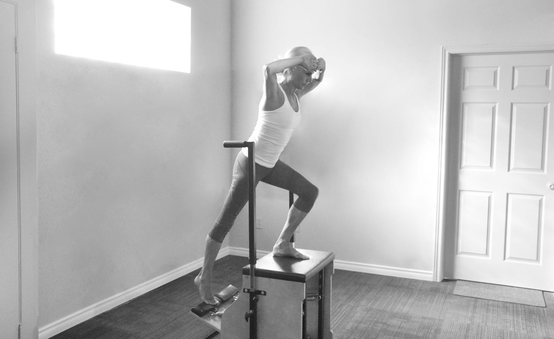 Pilates chair pose, Pilates Works, Oakville, Ontario